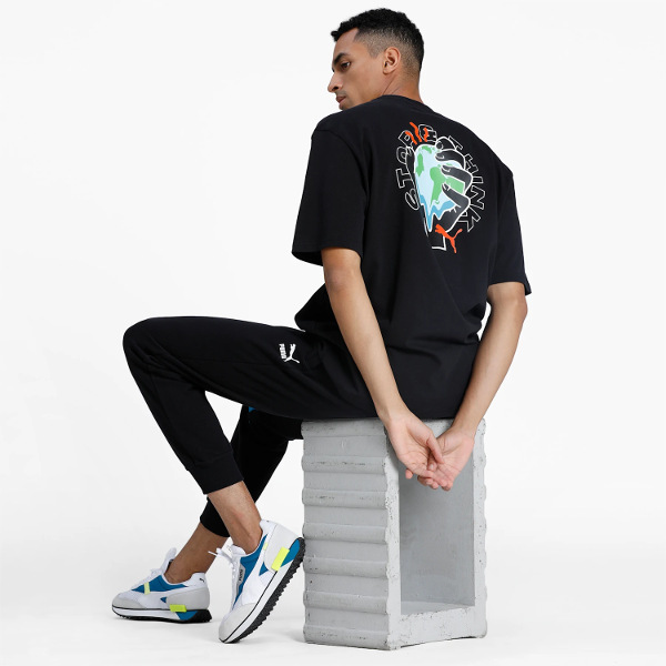 Puma Men's Downtown Graphic Tee Black