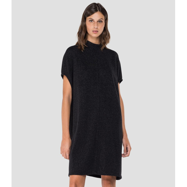 Replay Women's Crewneck Dress With Lurex