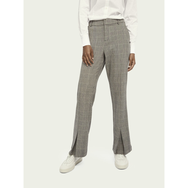 Scotch & Soda Women's Flared Checked Pants