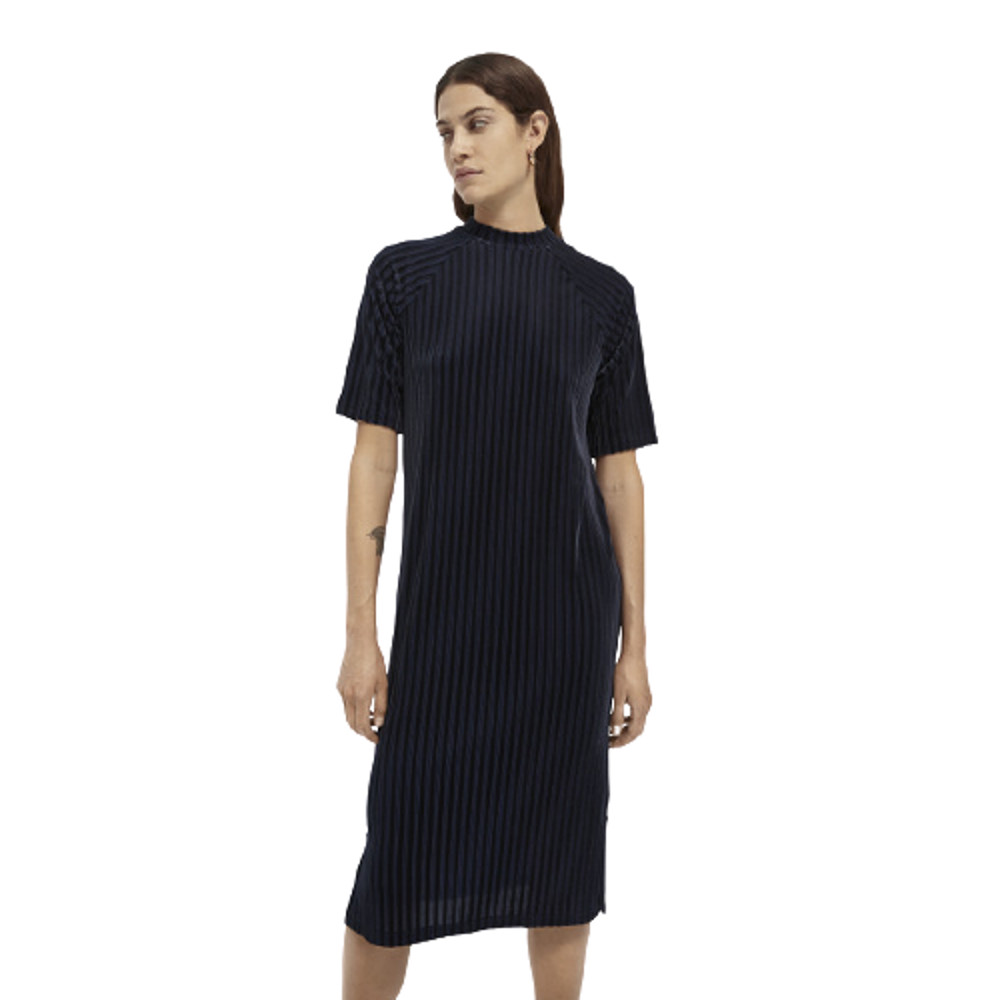 Scotch & Soda Stripe Velvet Midi Dress