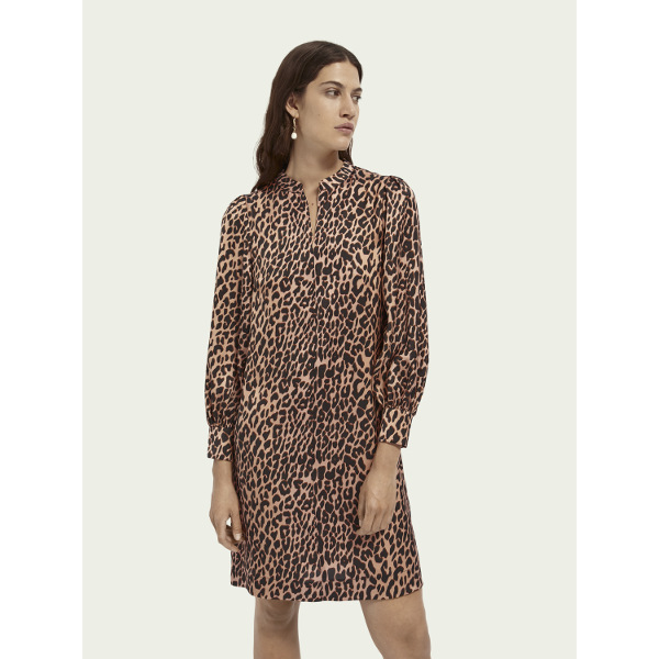 Scotch & Soda Printed Waist Tie Dress