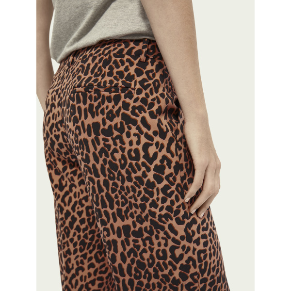 Scotch & Soda Printed High-Waist Wide-Leg Pants