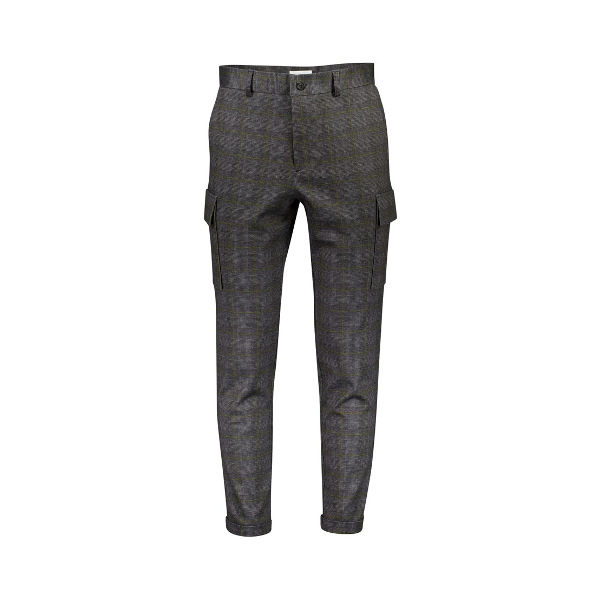 Lindbergh Knitted Checked Cargo Pants