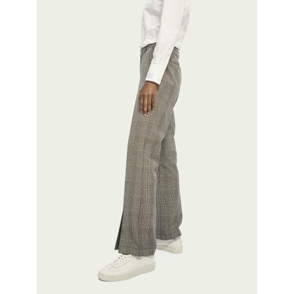 Scotch & Soda Women's Flared Checked Pants