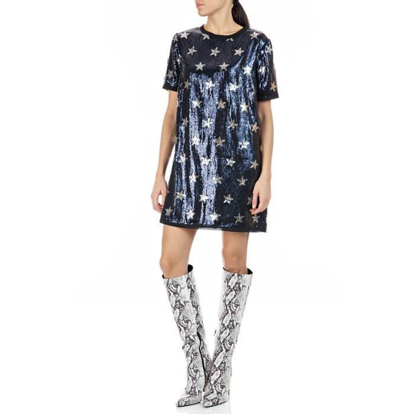 Replay Women's Dress Sequins With Stars