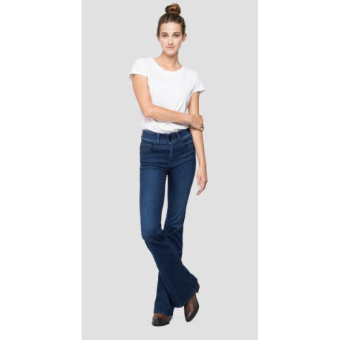 Replay Women's Flare-Fit New Luz Jeans