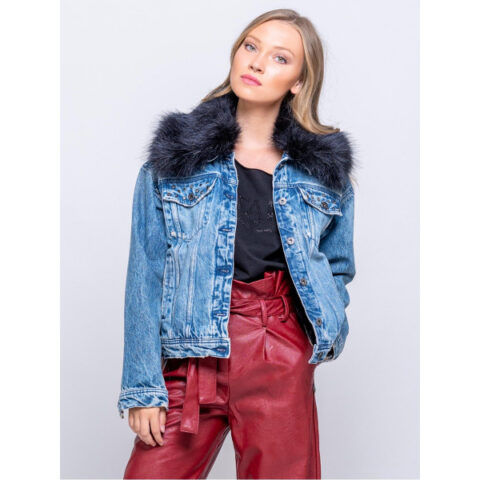 Staff Tamara Women's Jean-Jacket With Fur
