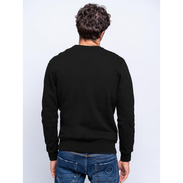Staff Cooper Man Sweat Crew-Neck Black