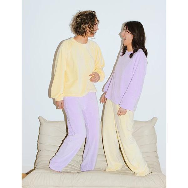 MbyM Roo Women's Velour Blouse Lavender
