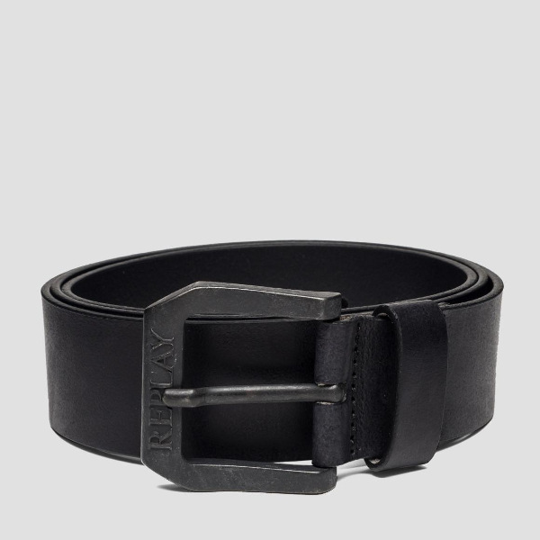 Replay Men's Belt In Brushed Leather
