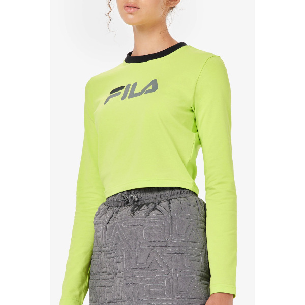 Fila Women's Jaya Long-Sleeve Crop T-Shirt