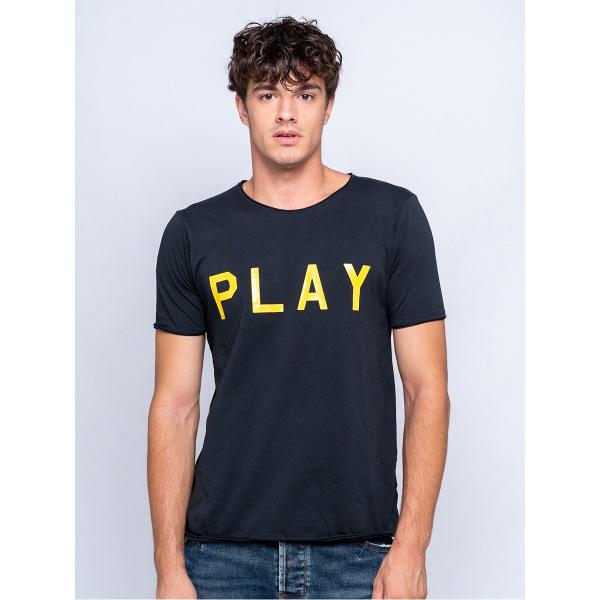 Staff Man Play T-Shirt Black