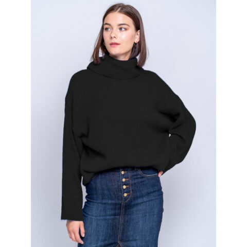Staff Women's Melanie 1 Knit Turtleneck Black