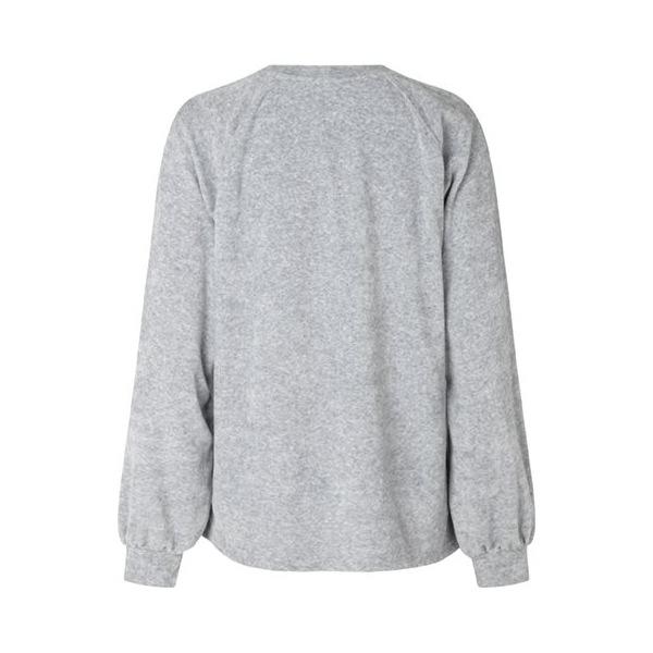 MbyM Roo Women's Velour Blouse Grey