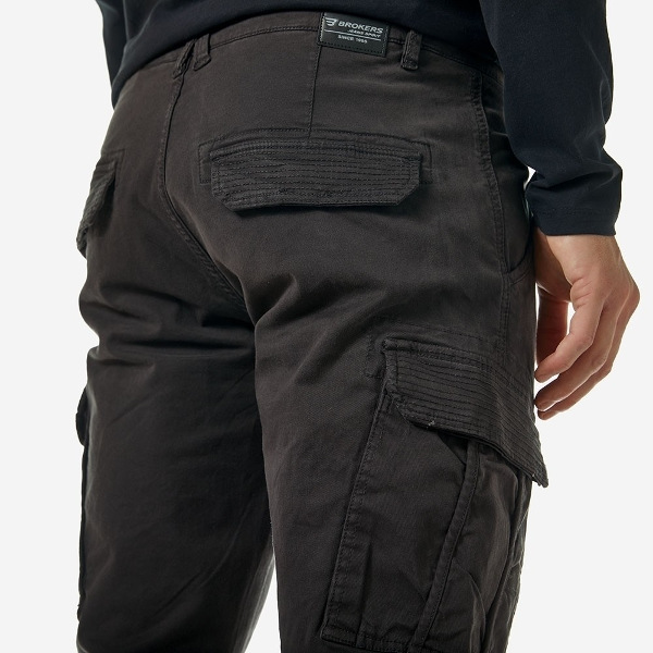 Brokers Men's Cargo Pant's Anthracite
