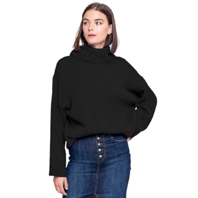 Staff Women's Melanie 1 Knit Turtleneck Black