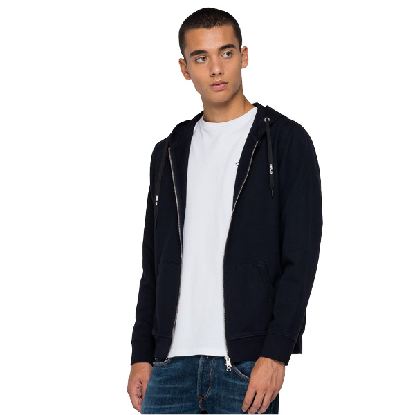 Replay Men's Hoodie Zip Black