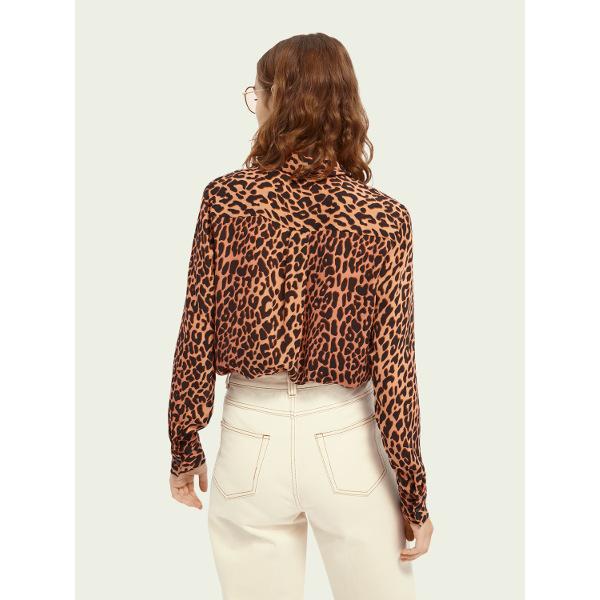 Scotch & Soda Women's Regular-Fit Animal-Print Shirt