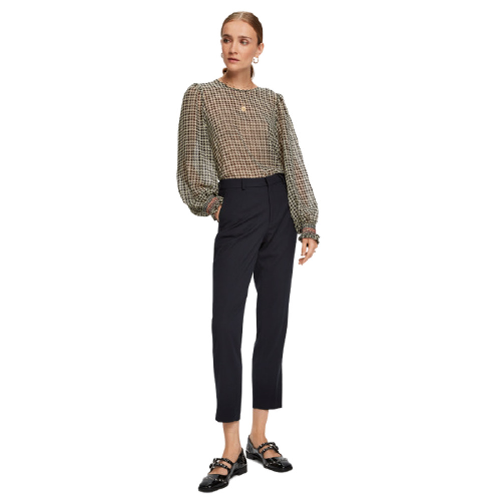 Scotch & Soda Women's Sheer Long Sleeve-Top