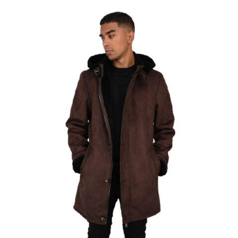 Oakwood Dylan Hooded Fake Shearling Coat