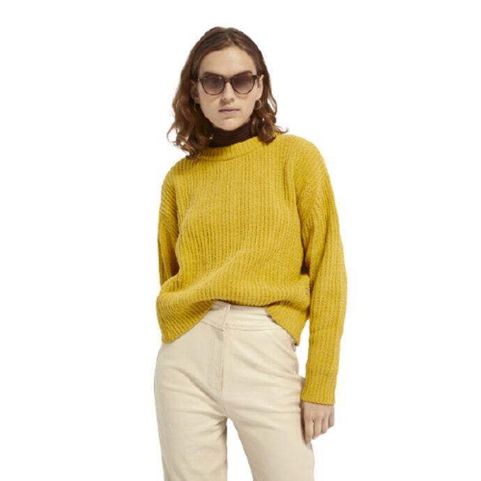 Scotch & Soda Women's Chunky knit-chenille pullover