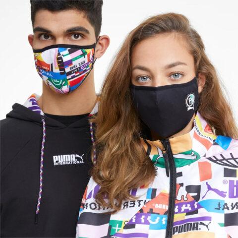 Puma Face Mask (Set of 2) Black-International AOP
