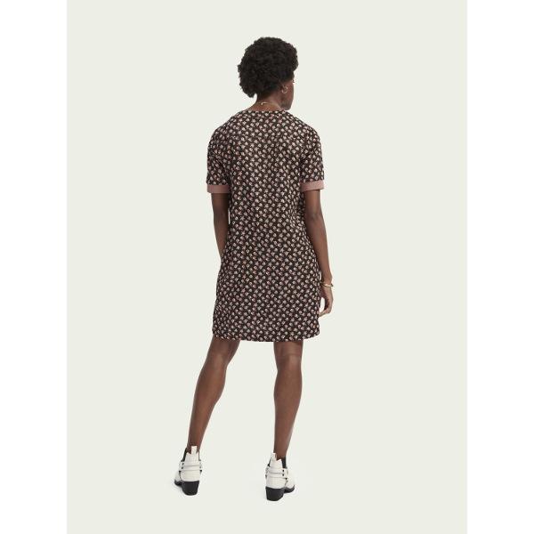 Scotch & Soda Women's V-Neck Short-Sleeve Dress