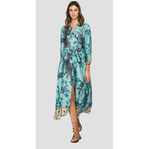 Replay Viscose Dress With All-Over Print