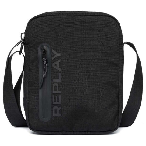 Replay Men's Canvas Crossbody Bag Black