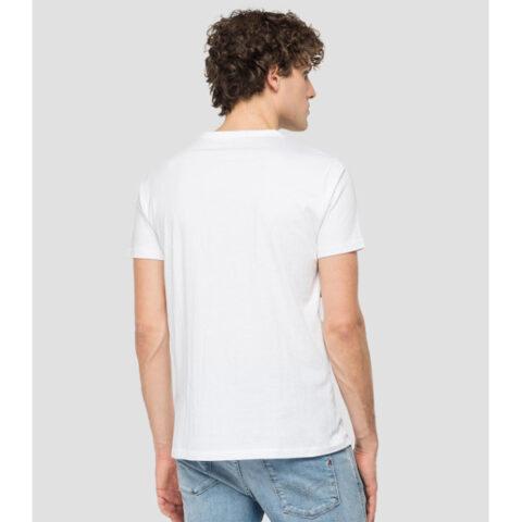 Replay Blue Jeans Grandad Neck T-Shirt