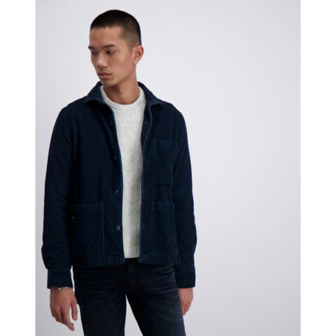Junk De Luxe Over Shirt Corduroy Blue-Navy