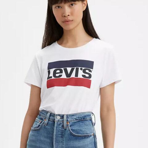 Levi's® The Perfect Tee - Sportswear Logo White