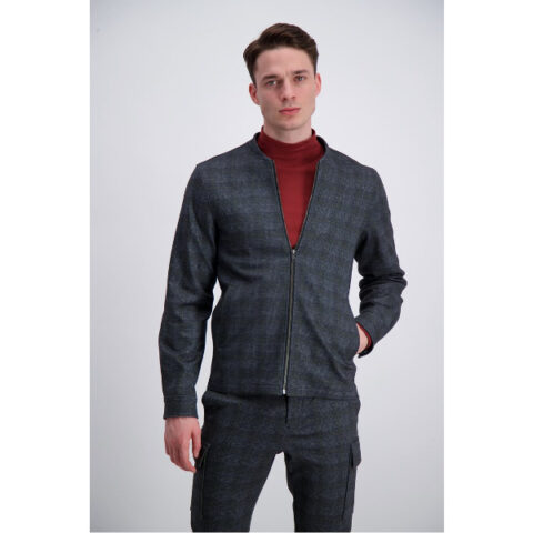 Lindbergh Men's Over-Shirt Grey Check