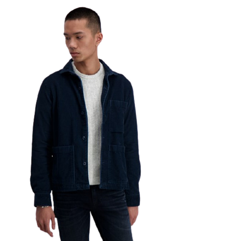 Junk De Luxe Over Shirt Corduroy Blue-Navy