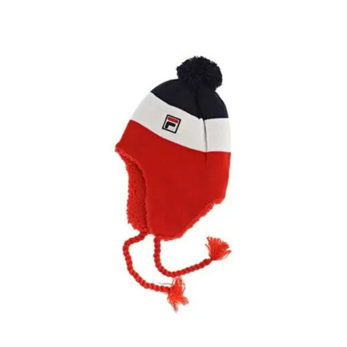 Fila Pom Sherpa Fleece Beanie Hat