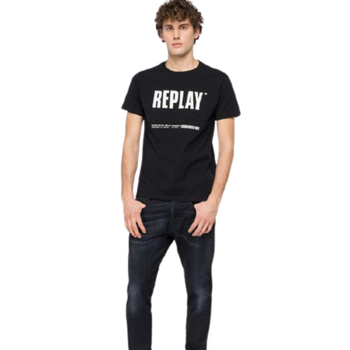 Replay Blue-Jeans Established 1981 Print T-Shirt Black