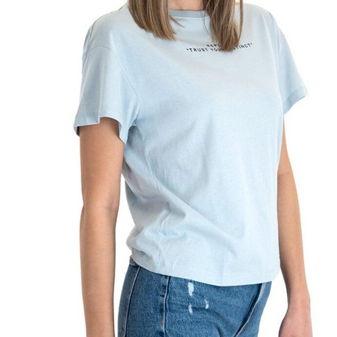 Replay Women's T-Shirt Light blue