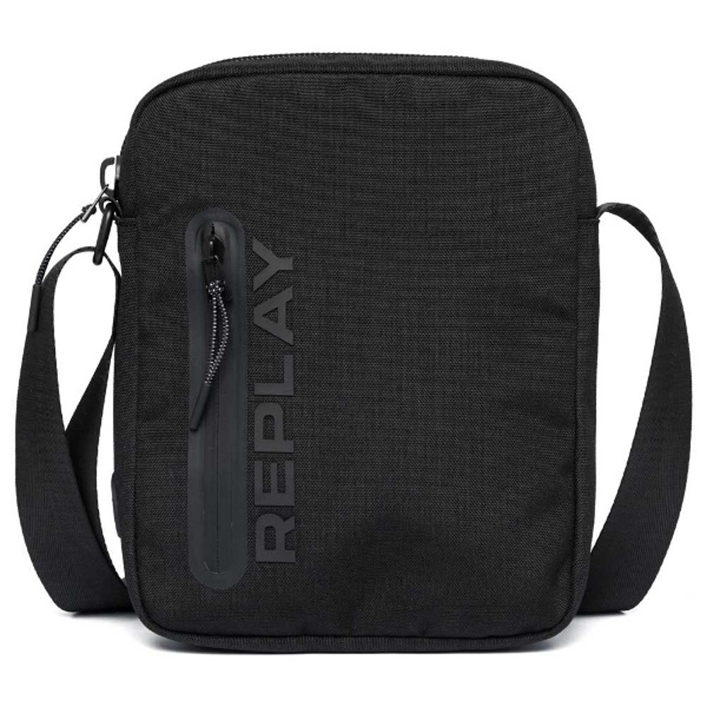 Replay Men's Canvas Crossbody Bag Black