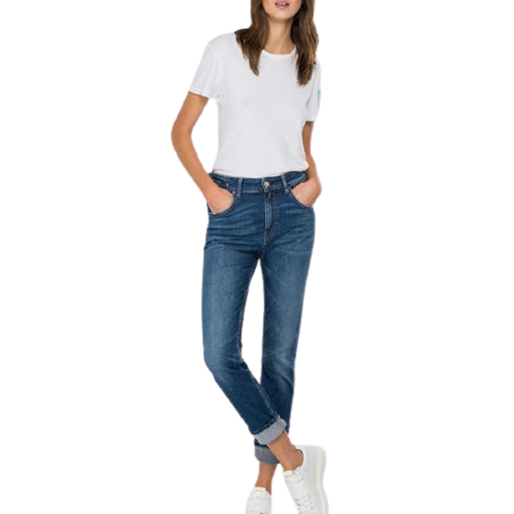 Replay Women's 573 Bio Boy-Fit Marty Jeans