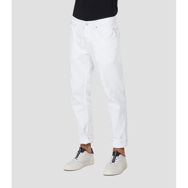 Replay Men's Regular-Fit Willbi White Jeans