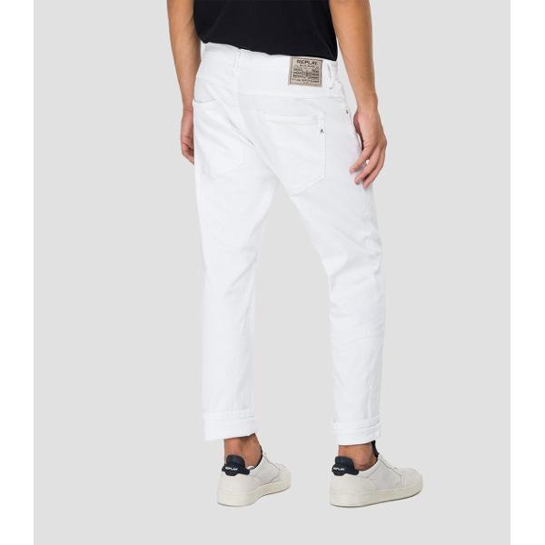 Replay Men's Regular-Fit Willbi White Jeans