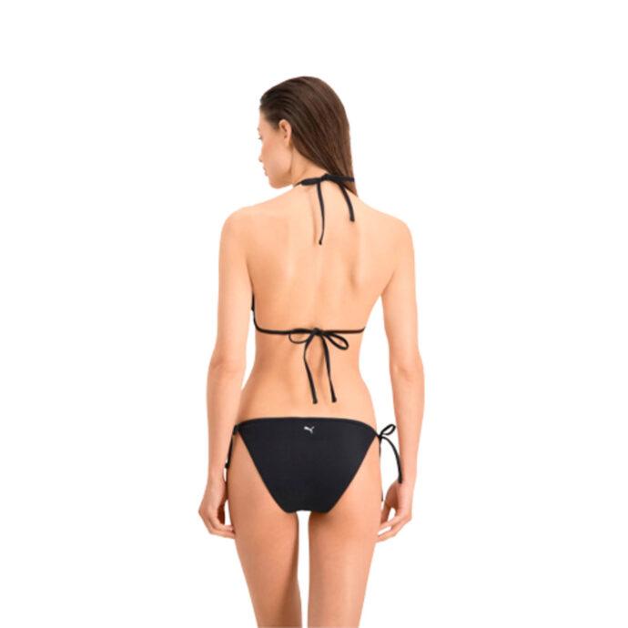 Puma Swim Women's Side-Tie Bikini Bottom Black