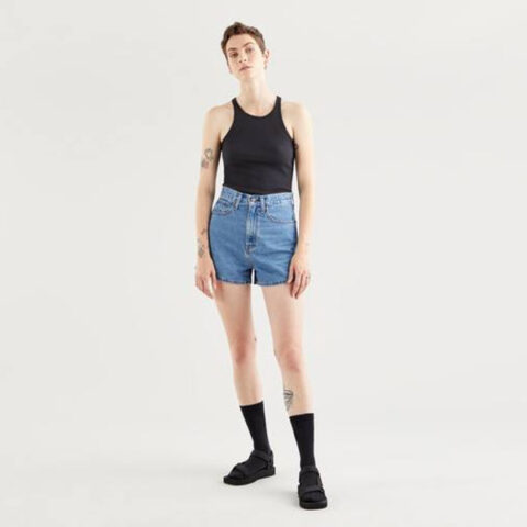 Levi's® High Neck Tank-Caviar