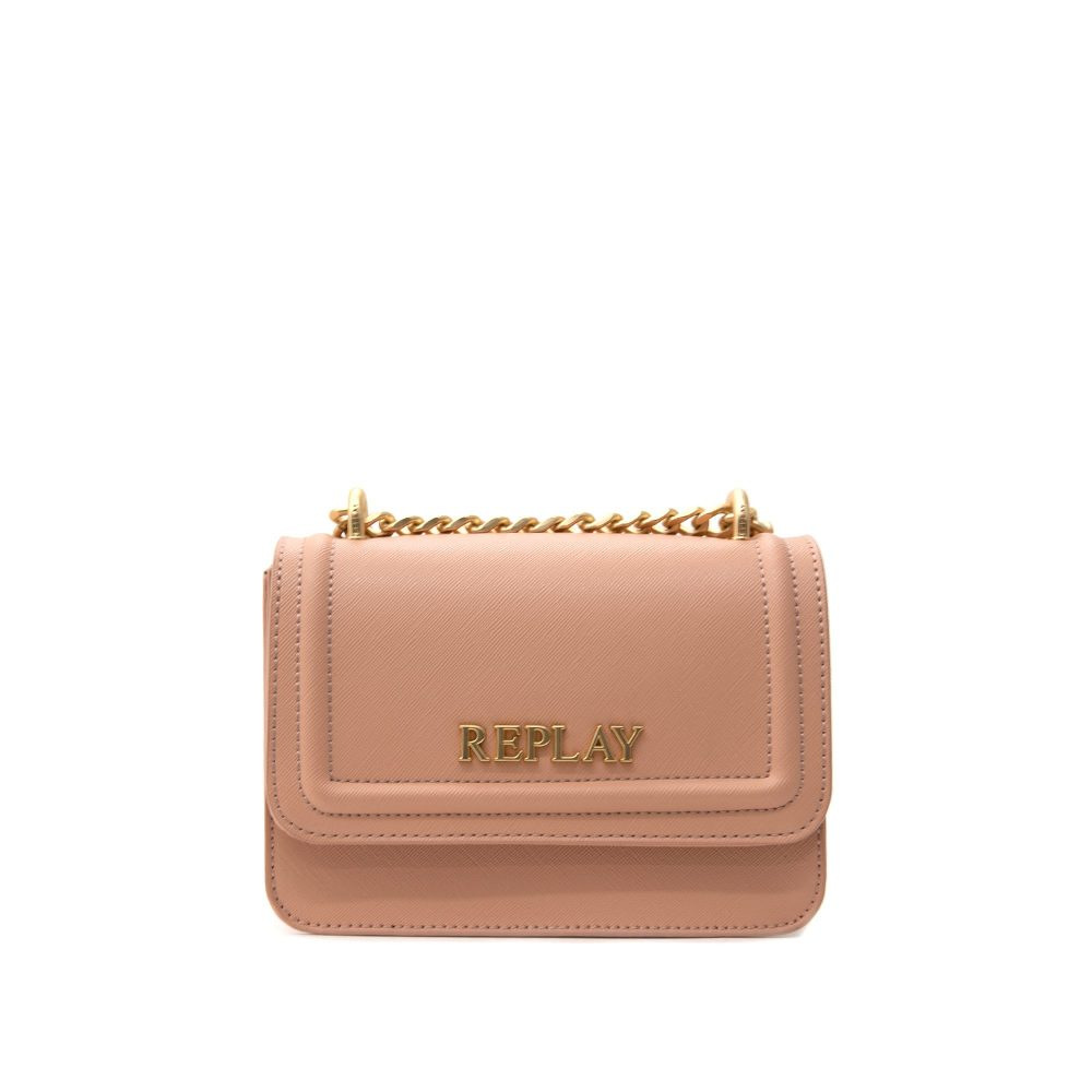 Replay Dirty Pale-Beige Women's Bag Saffiano