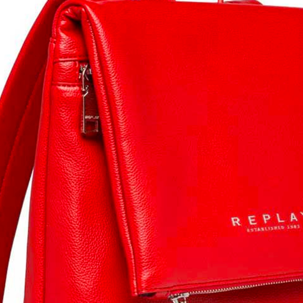 Replay Red Soft Backbag-Flap Women's