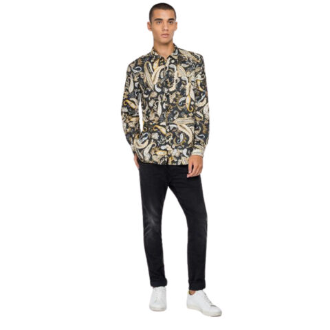 Replay Men's Jacquard Shirt Paisley Print