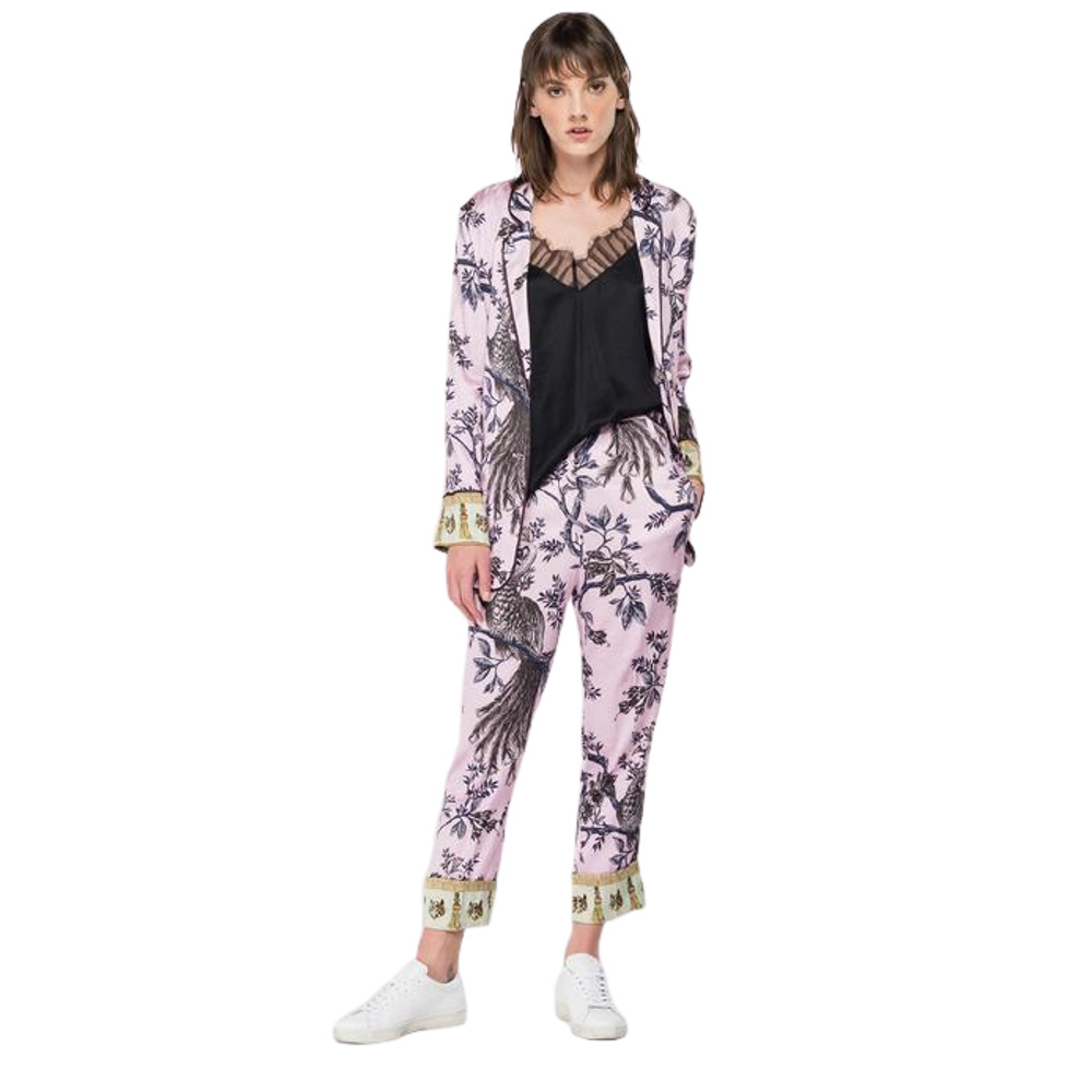 Replay Women's Viscose Trousers All-Over Print
