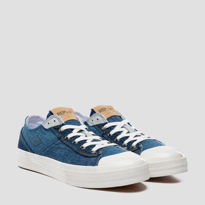 Replay Men's Rebel Denim Lace-Up Sneakers