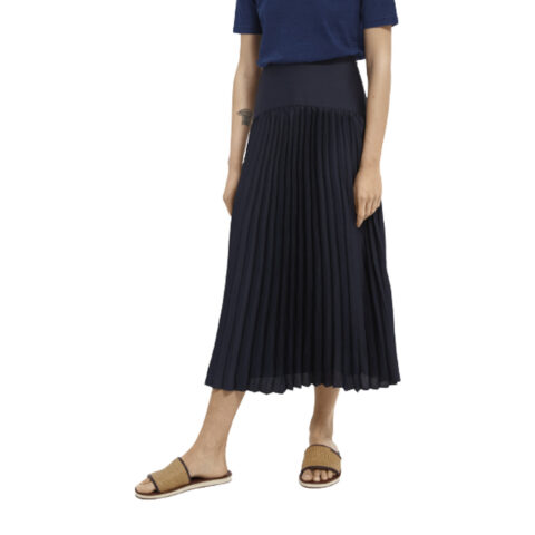 Scotch & Soda Women's Blue Pleated maxi skirt