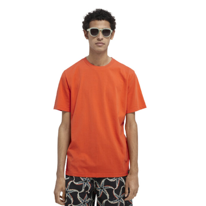 Scotch & Soda Men's Graphic T-shirt Signal Red